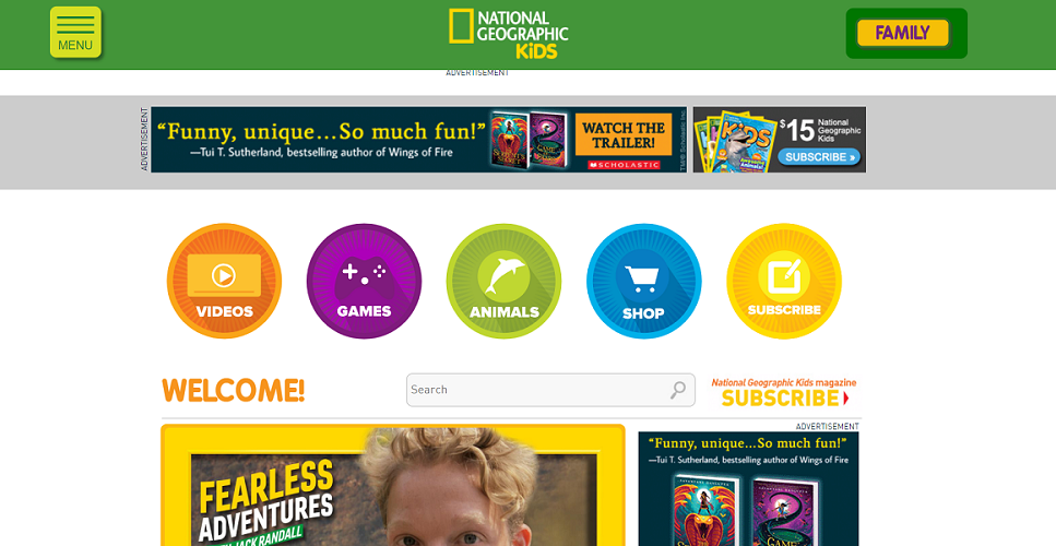 Online Learning Tool National Geographic Kids