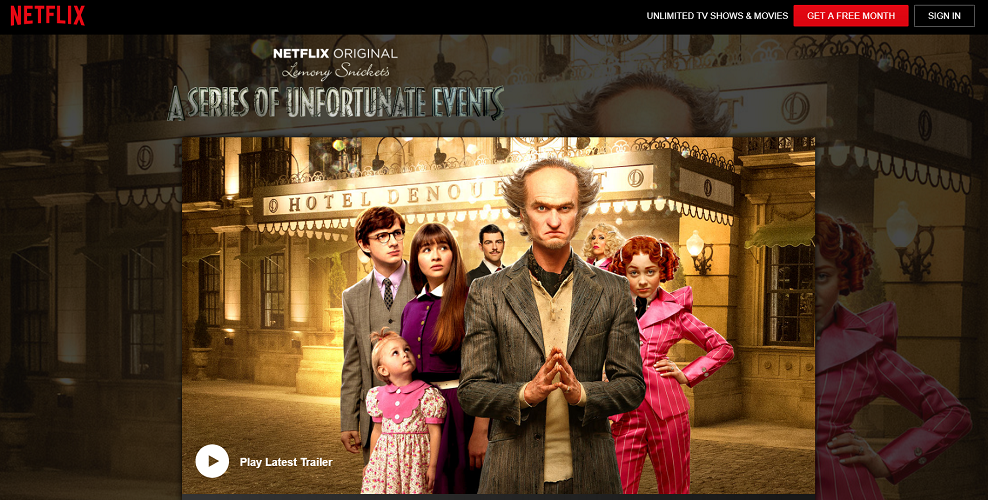 Netflix - A Series of Unfortunate Events