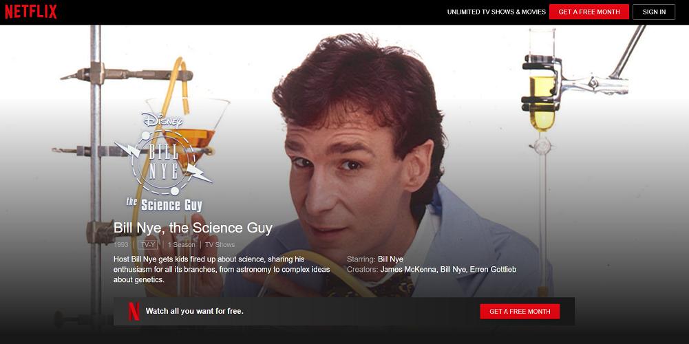Netflix - Bill Nye, the Science Guy