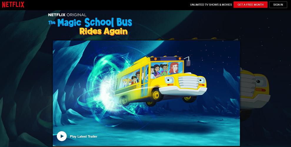 Netflix - The Magic School Bus Rides Again