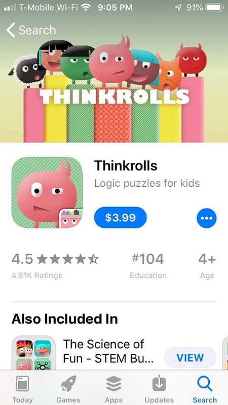Thinkrolls iPhone app