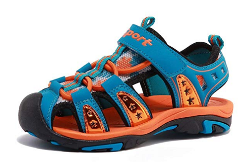 BODATU Boys' and Girls' Summer Outdoor Beach Sports Closed-Toe Sandals