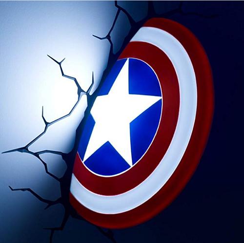 . 3DLightFX Marvel Avengers Captain America 3D Deco Light