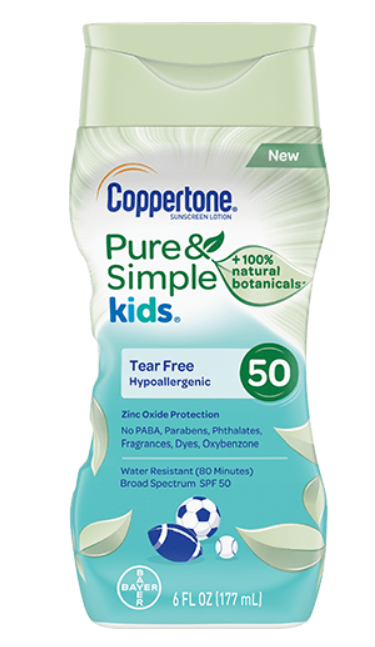 Coppertone Pure and Simple Kids Sunscreen