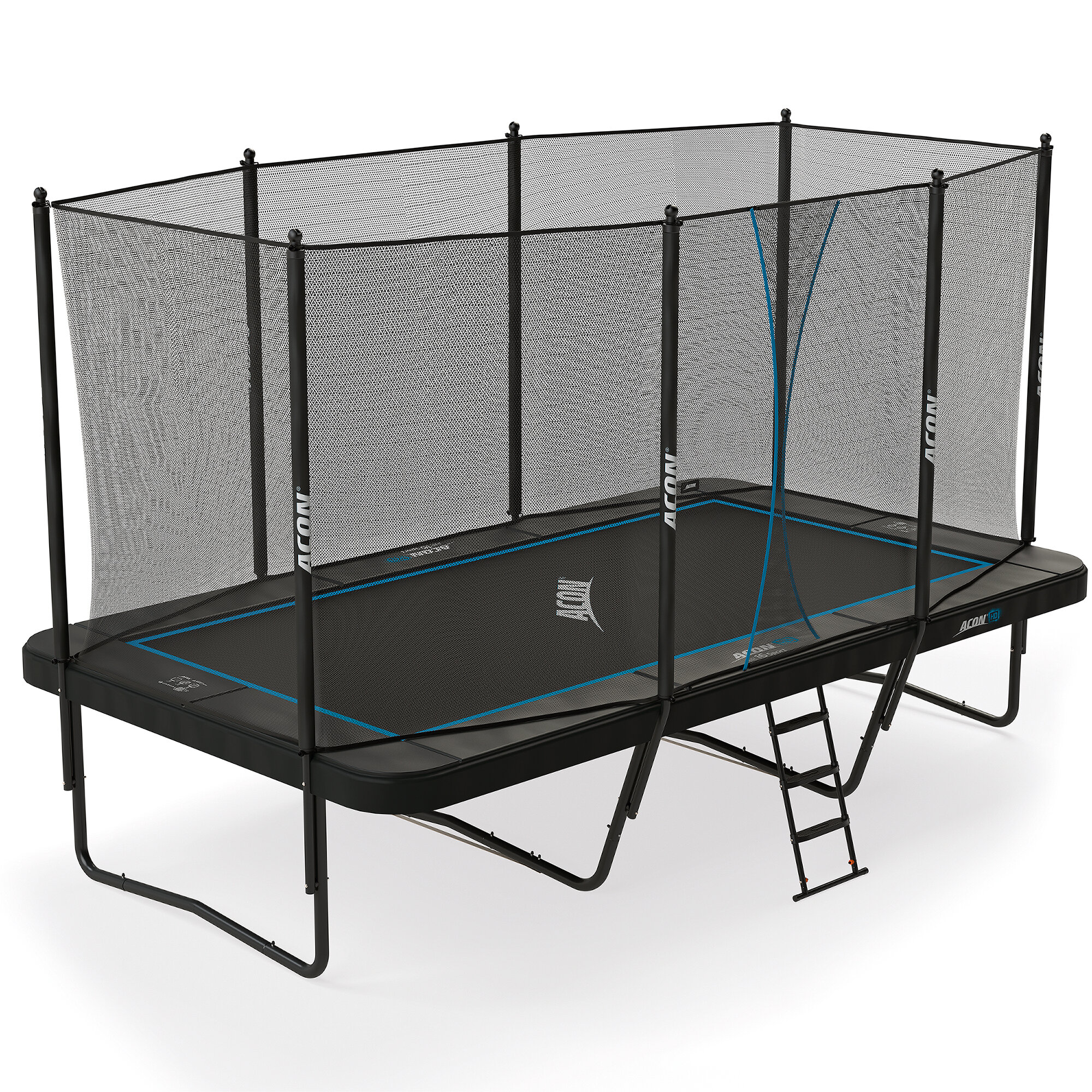 air 164 rectangular trampoline with safety enclosure
