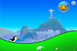 Racing Penguin Slide and Fly