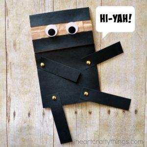 paper bag ninja craft 8