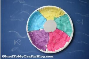 paper plate beachball