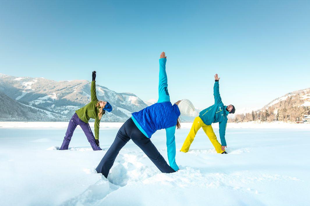winter yoga zell am see kaprun c zell am see kaprun tourismus