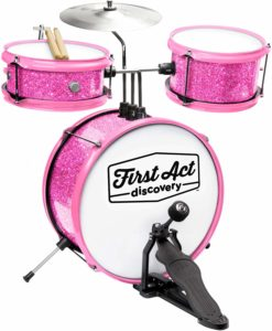 pink sparkle drum kit