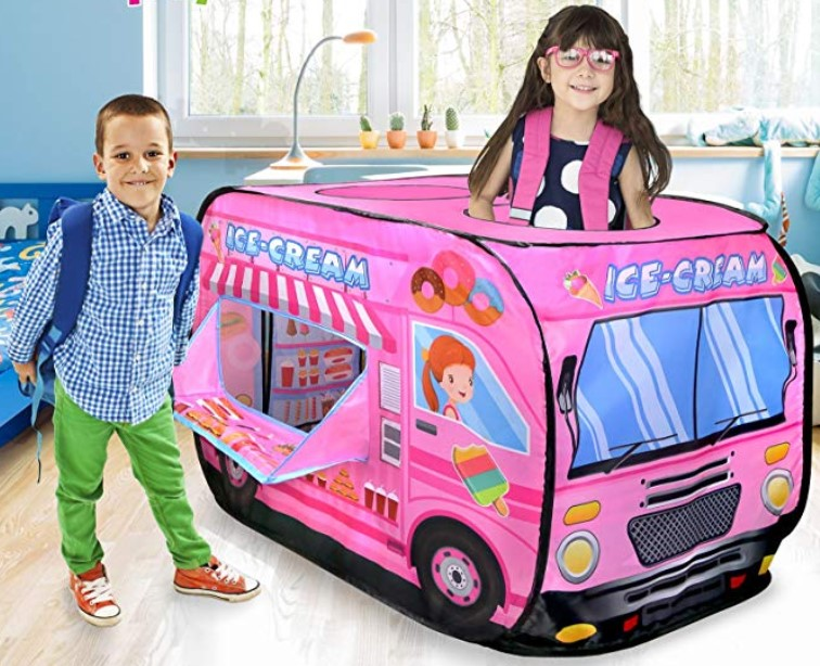 Ice Cream Truck Pop Up Play Tent