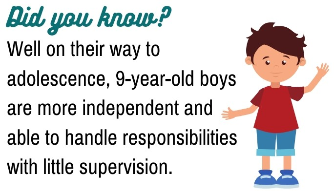 9-year-old BOYS fact
