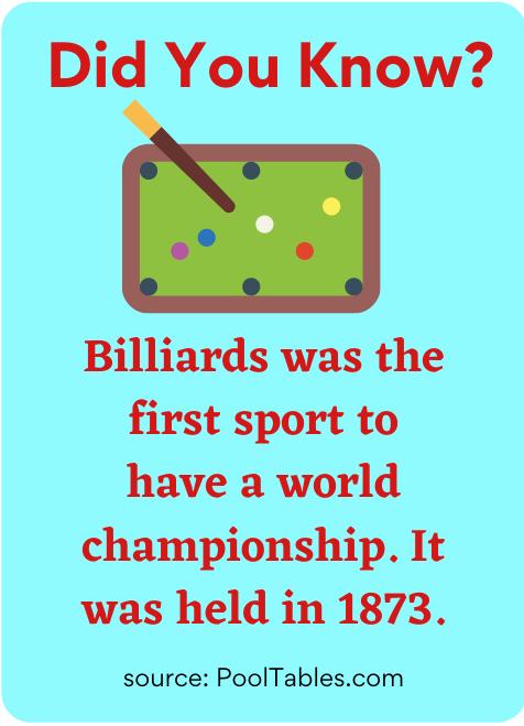 Billiards fact