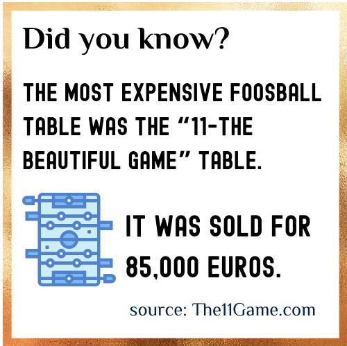 Foosball fact