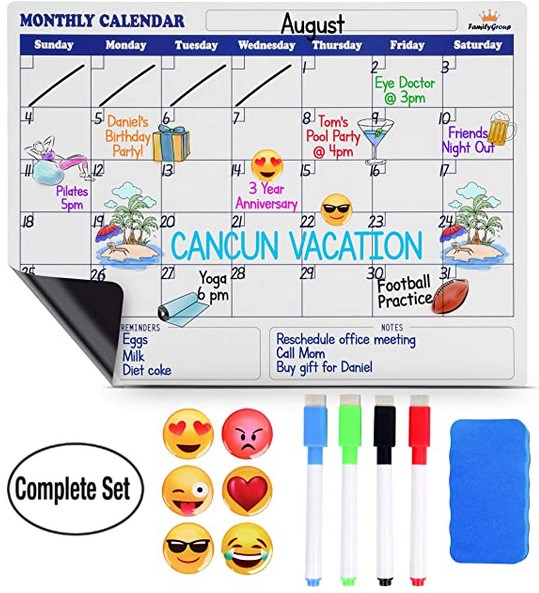 Back to School Deal Dry Erase Calendar