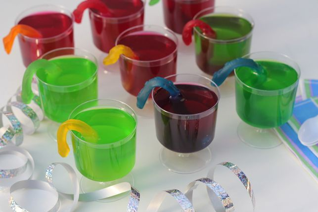 snake jello cups