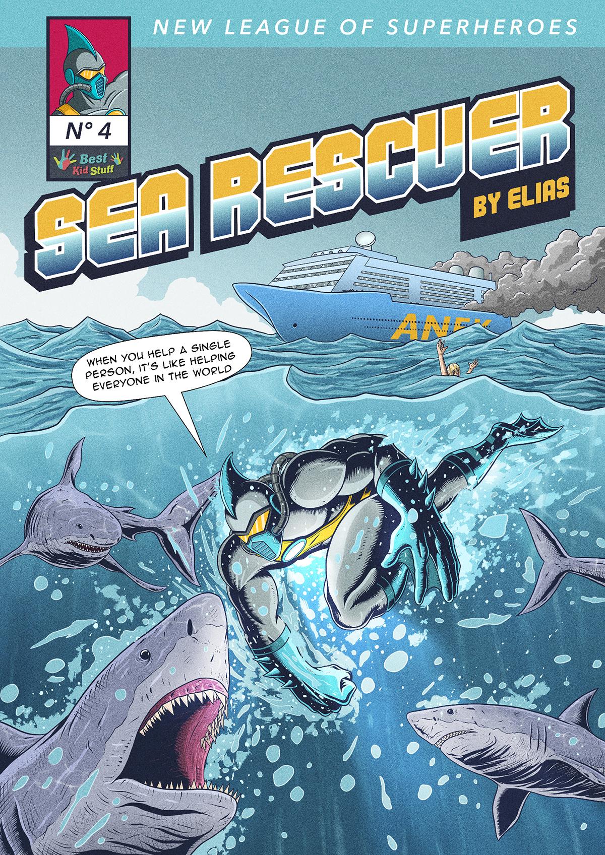04 New League of Superheroes Sea Rescuer