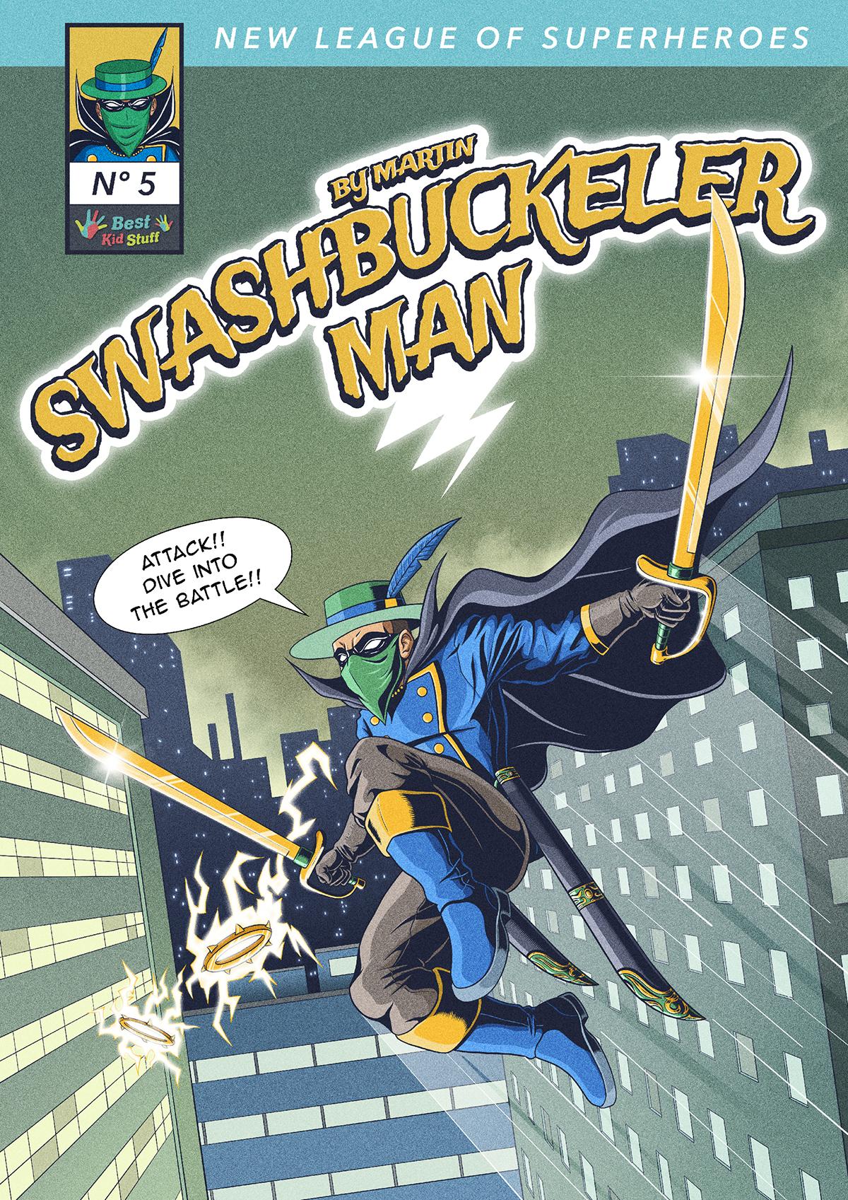 05 New League of Superheroes Swashbuckler Man