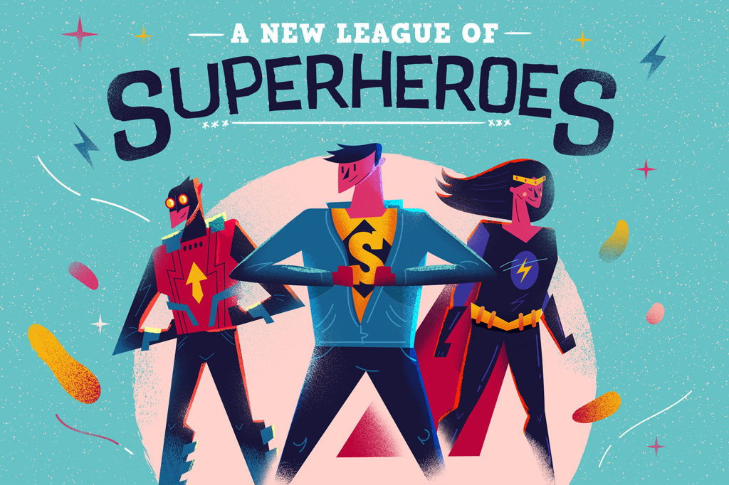 Header New League of Superheroes