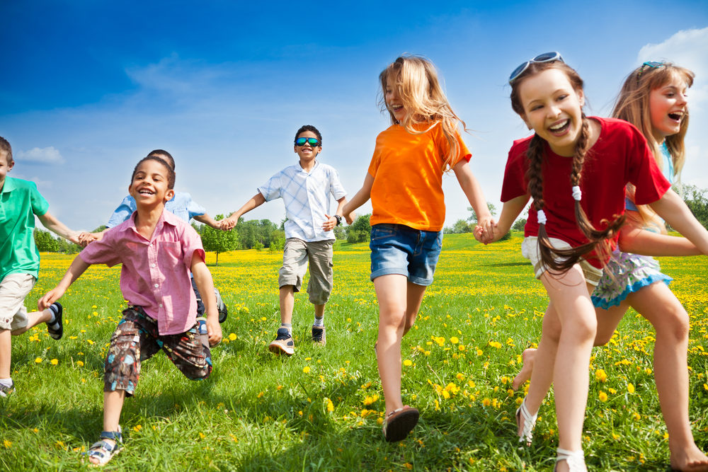 kids playing outdoors sports