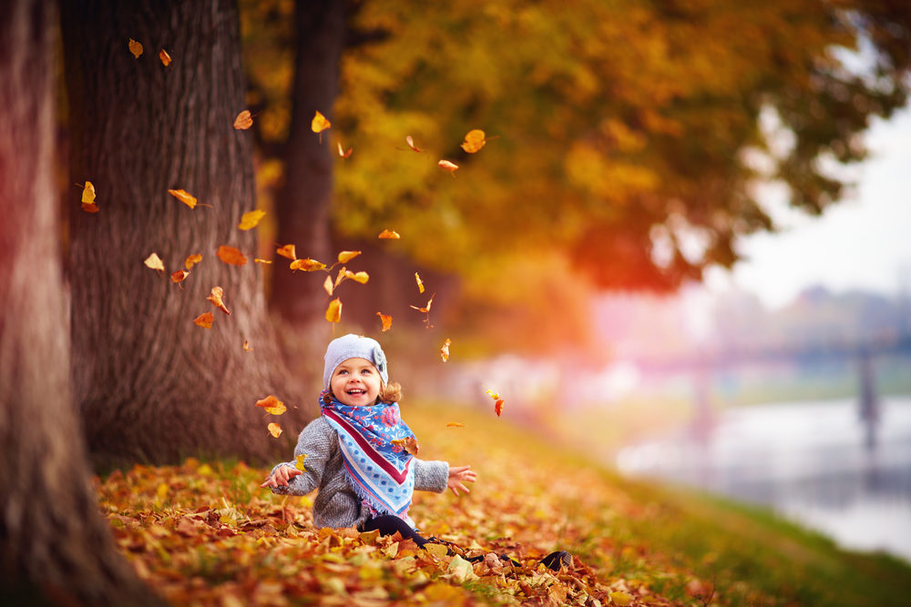 fall with kids